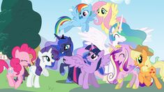 It features the Mane 6 (With Alicorn Twilight instead of Unicorn Twilight) and the other Princess. Mane 6 and The Princesses Rainbow Dash, My Little Pony Princess, Little Pony Party, Mlp Twilight Sparkle, Very Nice Pic, Little Poni, My Little Pony Characters, My Little Pony Drawing, My Little Pony Pictures