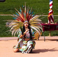 Gorgeous Aztec headdress