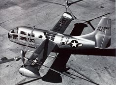 Bell XV-3 Convertiplane. 1955. Concept demo that was the great grand daddy to the MV-22.