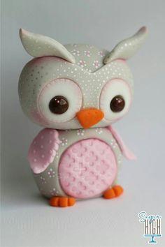 Fondant owl, Sugar High Inc