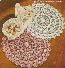 Shaded Pink and Lavender Doily