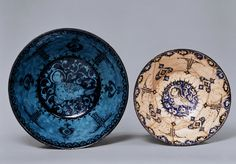 13th century Iran  fritware with unfderglaze painting