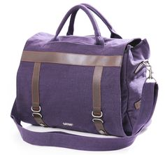 Sativa Hemp Three-Way Shoulder Bag - Plum - £68.99 www.naturalcollection.com