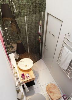 зеленый плитки душ