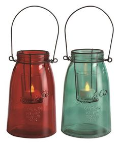 Another great find on #zulily! Mason Jar Candle Holder- Set of Two #zulilyfinds