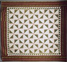 Civil War Quilts: 5 Kansas Troubles---Kansas Troubles quilt, about 1850, by L.B. Collection of the Spencer Museum of Art at the University of Kansas