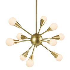 With its contemporary design, the INK+IVY Camden Lighting Collection adds intriguing style to any space. This exciting chandelier features 10 round glass shades sticking out from the middle of the fixture for an exciting, modern look. Light Bulb Store, Light Bulb Bases, Sputnik Chandelier, Chandelier Lighting, Bedroom Chandeliers, Ceiling Fan, Ceiling Lights, Gold Ceiling, Modern Lighting