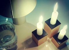 Domino. candle holders designed by Hanna-Marie Naukkarinen, Niko Hakala and Marianne Mäensivu