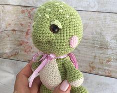 Handmade crocheted soft toys for children от HouseCrochetedToys Toy Turtles, Crochet Turtle, Vintage Crochet Patterns, Kids Pillows, Gifts For Pet Lovers, Handmade Toys, Crochet Toys, Pet Toys, Children