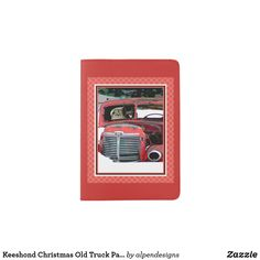 Shop Keeshond Christmas Old Truck Painting Dog Art Passport Holder created by alpendesigns. Passport Holders, Passport Wallet, Dog Travel, Old Trucks, Dog Art, Travel Style, Dogs, Christmas, Painting