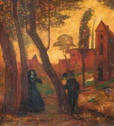 Gulácsy, Lajos Meeting (Italian Tale), between 1905 and 1907 Camille Pissarro, Paintings I Love, Artist Art, Art World, Surrealism, Art Nouveau, Symbols, Gallery, Paul Klee