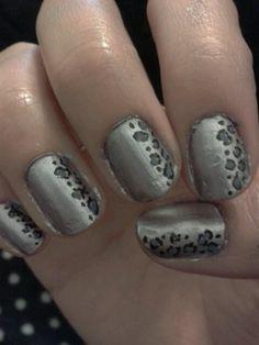 Leopard print - Barry M camileon nails