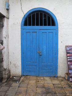 Blue Door -Kota Tua- Jakarta, Indonesia Door Shades, Dutch Colonial, Blue Green, Yellow, Shades Of Blue, Gates, Tall Cabinet Storage, Blue Doors, Windows