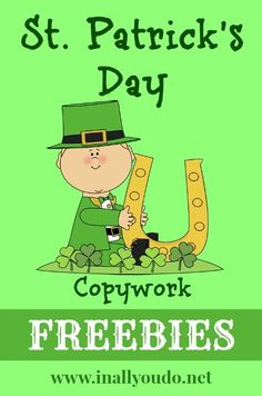 FREE St Patricks Day Copywork | In All You Do