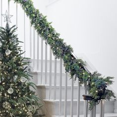 Eucalyptus & Winterberry Garland - from The White Company Country Christmas, Christmas 2016, Christmas Themes, White Christmas, Christmas Wreaths, Christmas Decorations, Holiday Decor, Christmas Staircase, Christmas Garden