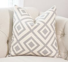 David Hicks La Fiorentina Groundworks Light Grey - Zig Zag Geometric Pillow - Ivory Pink Gray Pillow Cover - Nuetral Pillow - Throw Pillow