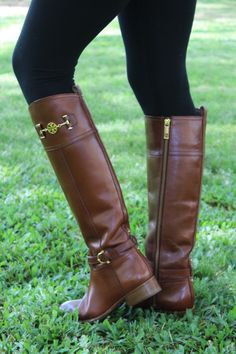 "Tory Burch boots. I'm in love with them. I love ""riding boots"" in everyday fashion."