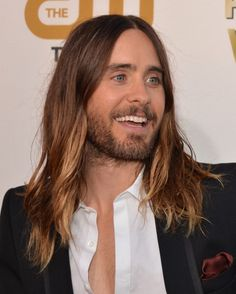 Jared Leto on the red carpet at 19th Annual Critics Choice Movie Awards 1/16/14