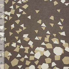 Mod Confetti Mustard on Mocha Cotton Jersey Blend Knit Fabric - Girl