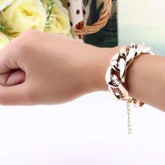 Fashion Women Girls Full Rhinestone Snowflake Alloy Extended Wrap Bracelets