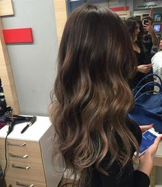 Hair hair color hair color dark, dark hair, balayage, ombre h Hair Color 2018, Hair Color Dark, Brown Hair Colors, Brown Hair Balayage, Brown Hair With Highlights, Partial Balayage Brunettes, Sombre Hair Brunette, Asian Balayage, Long Dark Hair