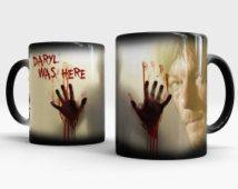Daryl Dixon - The Walking Dead - cambio de Color café taza, taza de magia muerta caminando, regalo para los amantes de Walking Dead, Daryl Dixon taza