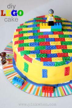 DIY Lego Cake via http://PinkWhen.com