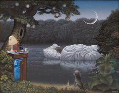 Jacek Yerka – Surrealist painter - Your Decor Surrealism Painting, Magic Realism, Good Night Moon, Surreal Art, Art Plastique, Landscape Art, Fantasy Art, Illustration Art, Illustration Pictures