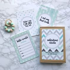 Bibs and Bunting Baby Milestone Cards |Little Hugs Baby Boutique