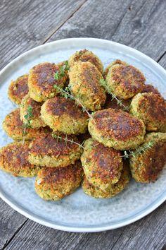 IMG_0741 Vegetarian Dinners, Vegan Vegetarian, Vegetarian Recipes, Healthy Recipes, Veggie Patties, Danish Food, How To Eat Better, Happy Foods, Greens Recipe