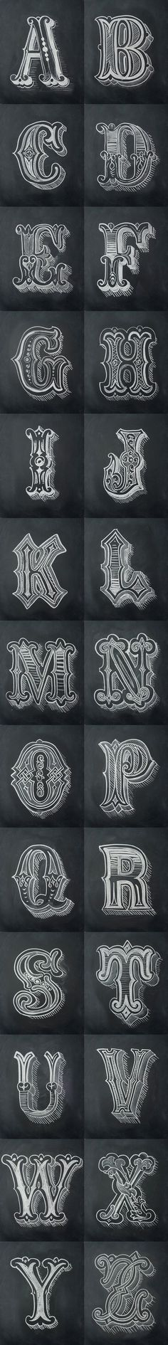 Chalk Alphabet by Antonio Rodrigues Jr: