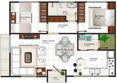 Casa bonita de 2 quartos