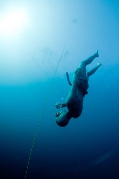 Freediving in Amed, Bali.