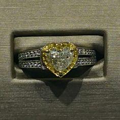 Wholesale yellow diamonds and custom diamond engagement rings in Dallas Texas at Diamore Diamonds Dallas.  Yellow heart shaped diamond rings for sale.  Http://www.diamorediamondsdallas.com or call us at 972-503-8882