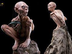LOTR Lifesize Gollum Statues