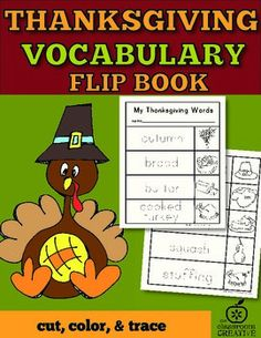 Practice writing lettering and spelling with our Thanksgiving vocabulary flip book.