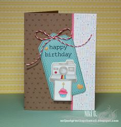 Happy birthday card using Tag, You're It and  #awesome stamp set by Niki Garcia