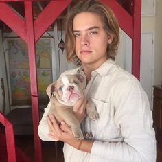Have you ever seen a better duo than Dylan and his English Bulldog Magnus?