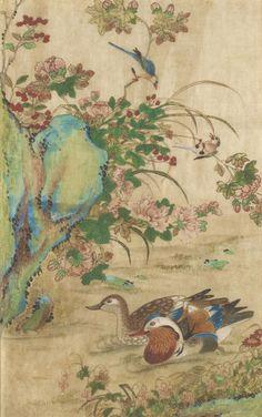 korean-painting-of-flowers-and-birds.jpg (500×798) Shin Saimdang