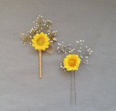 Sunflower wedding hair piece Babys breath hair accessories Prom hair Sunflower boutonniere Wedding set - All About Hairstyles Babys Breath Hair, Babys Breath Flowers, Hair Comb Wedding, Wedding Hair Pieces, Sunflower Boutonniere, Champagne Hair, Baby Hair Accessories, Wedding Sets, Wedding Trends