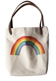 Sunday Market Tote in Rainbow | Mod Retro Vintage Bags | ModCloth.com