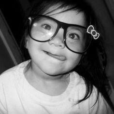 Cute baby in nerd glasses