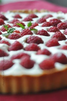 Tarta z malinami i mascarpone Top Recipes, Sweet Recipes, Cooking Time, Cooking Recipes, Cookie Desserts, Cheesecake Recipes, Food Inspiration, Food And Drink, Favorite Recipes