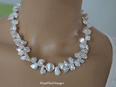 Perlenketten - Perlenkette Keshi Perlen 925 Silber - ein Designerstück von edelsteinreich bei DaWanda