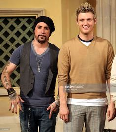 A.J. McLean (L) and Nick Carter (R) of Backstreet Boys attend a 'Special Fan Event' promoting their new album 'Unbreakable' at Venusfort on October 23, 2007, in Tokyo, Japan. The album will be released on October 24 in Japan. They are scheduled to peform at concerts in February next year in Tokyo.