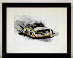 Audi Quattro Rallye Auto Illustration