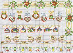 ru / Фото - A punto croce Speciale bordure - Los-ku-tik Cross Stitch Bookmarks, Mini Cross Stitch, Cross Stitch Borders, Cross Stitch Charts, Cross Stitching, Cross Stitch Embroidery, Cross Stitch Patterns, Christmas Border, Christmas Cross