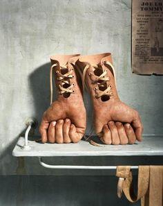 """brentbs: """"Hand gloves by Hugh Kretschmer """""""
