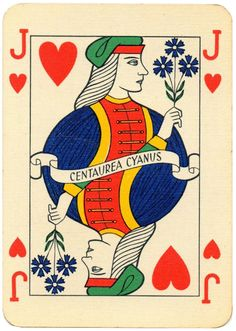 Jack of hearts Medimpex medicinal herbs playing cards from Hungary Jack Of Hearts, Queen Of Spades, Heart Cards, Medicinal Herbs, Hungary, Aesthetic Wallpapers, Tarot, Renaissance, Medicine