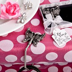 Handy Butterfly Design Handbag Caddy Favor - 6574
